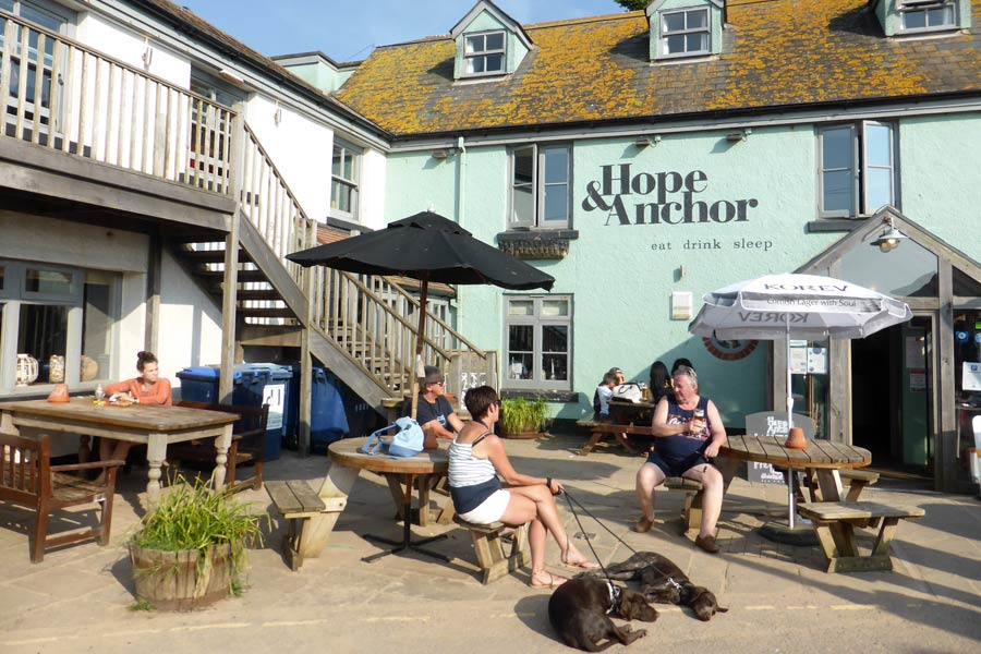 Hope and Anchor pub, Hope Cove, Devon - on the England Coast Path