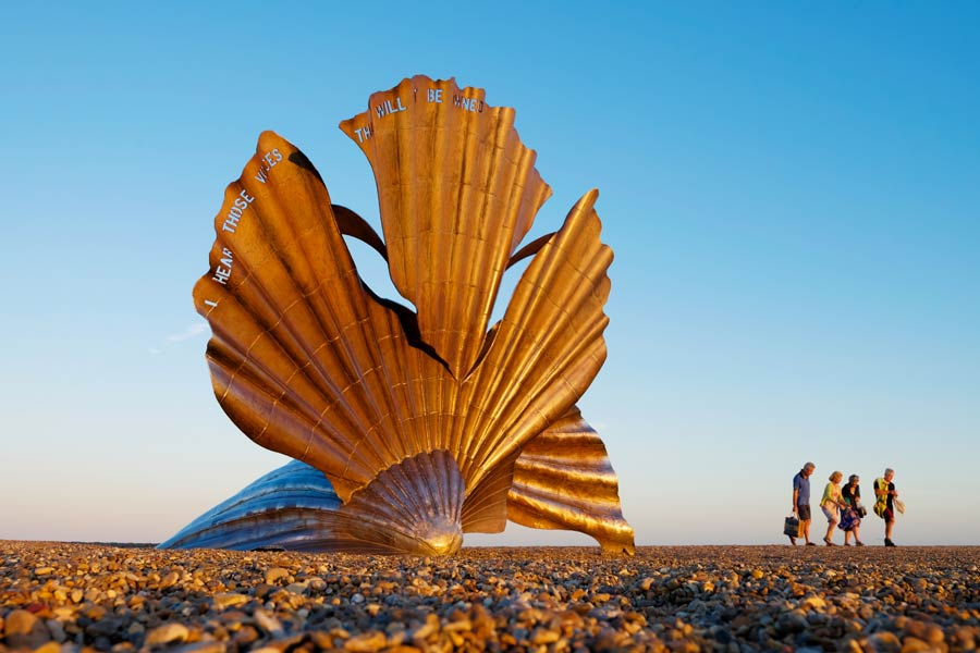 Aldeburgh shell sculpture, Suffolk - on the England Coast Path