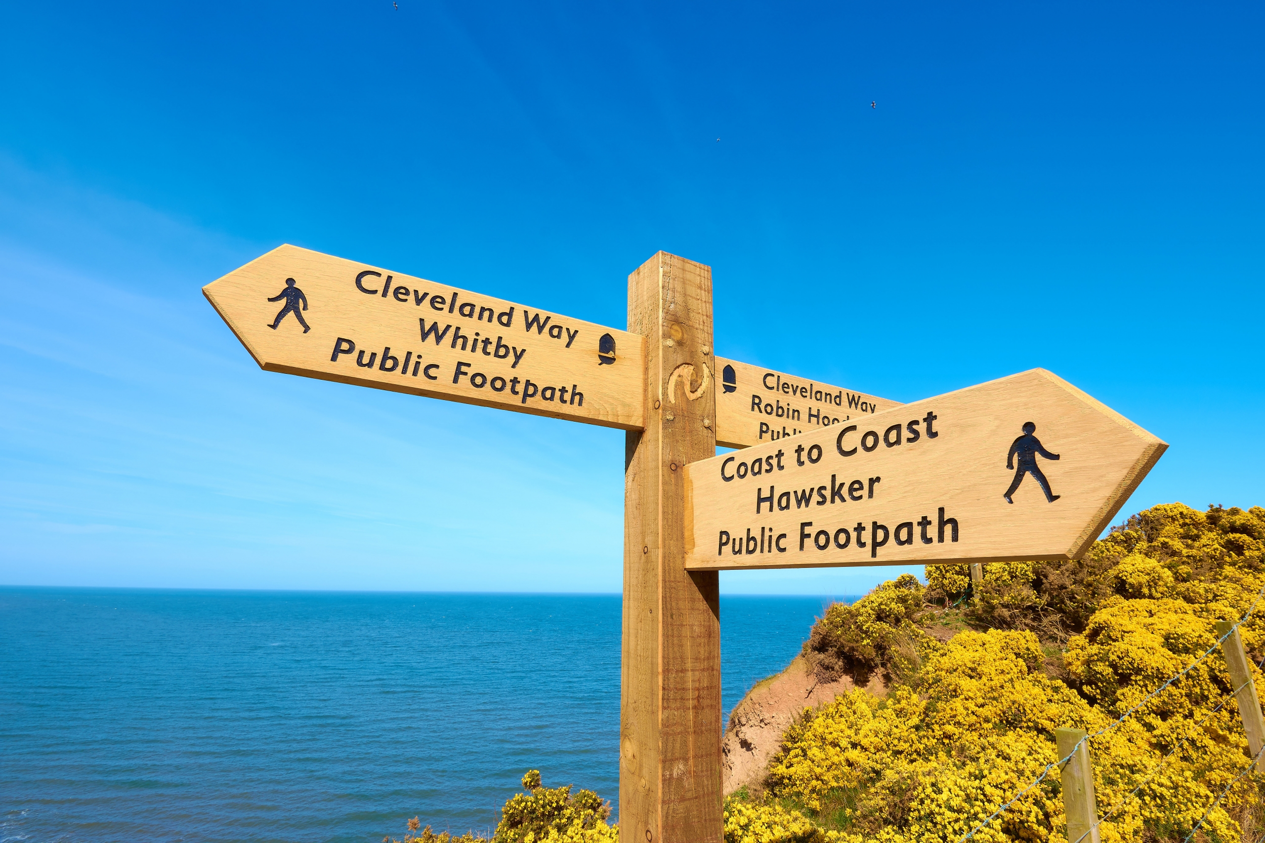 Some of the Cleveland Way is part of the England Coast Path
