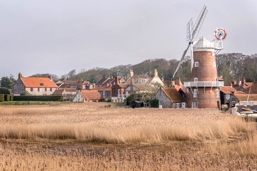 Cley windmill, on the north Norfolk coast - part of the England Coast Path