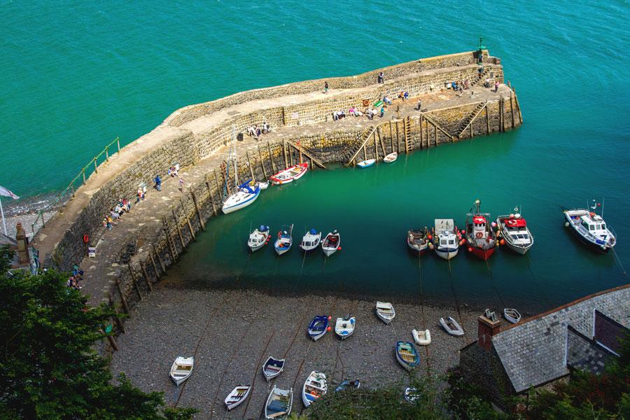 Clovelly on the England Coast Path