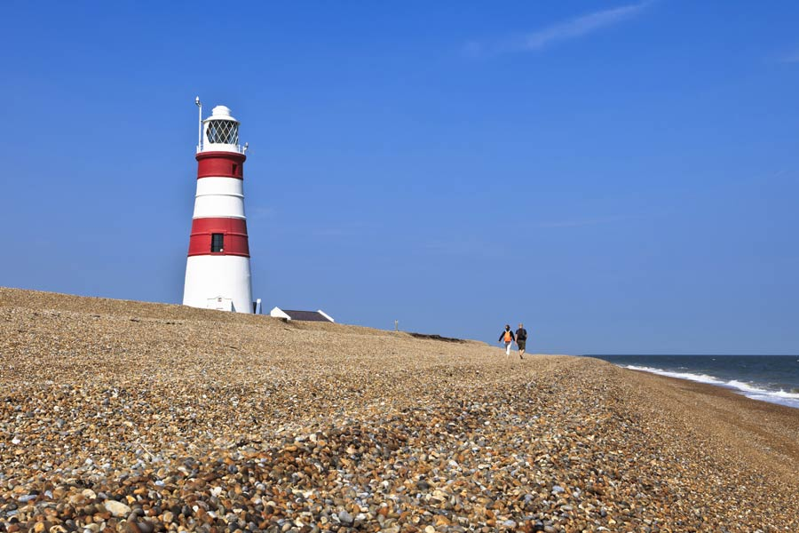 Orford Ness lighthouse, Suffolk - on the England Coast Path