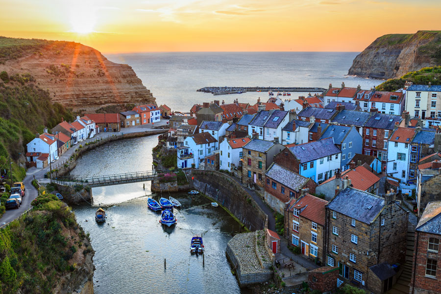 Staithes on the Cleveland Way - part of the England Coast Path