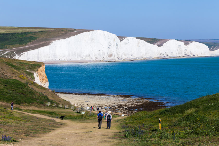 White cliffs of Dover on the England Coast Path